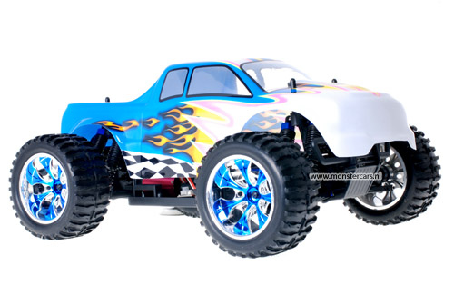 Himoto Brushless Truck White Blue 2.4GHz AANBIEDING!